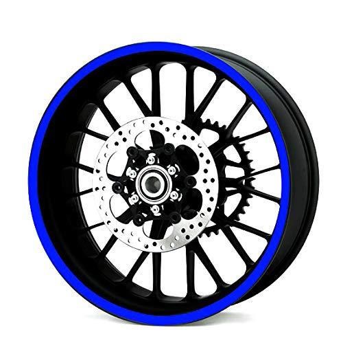 Heavy Duty Reflektierend Blau 600mm Streifen Aufkleber Motorrad Quad Trike Räder Karosserie Benzintank -