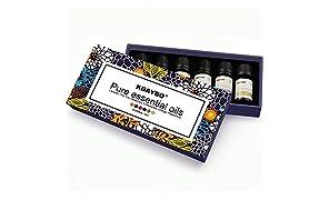 KBAYBO Aromaterapia Top 6 conjuntos de mezcla de aceites esenciales (Lavanda / T Árbol / Romero / Naranja / Limón / Menta) 100% Pure Premium grado aceites