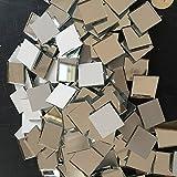 Satz von 100pcs kleine quadratische Glas Handwerk, Real Glas Spiegel Mosaik Fliesen (2x2cm)