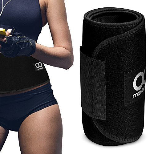 Maxboost Waist Trimmer, [Atlin Series] Weight Loss Ab Belt for Men & Women [Black, Extra Large] Workout Sweat Enhancer Exercise Adjustable Wrap for Stomach -Enjoy Muscle & Back Support