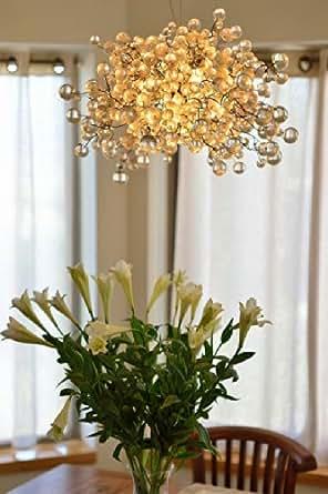 Lampes boules luminaire suspension boules couleur for Lustre contemporain salon