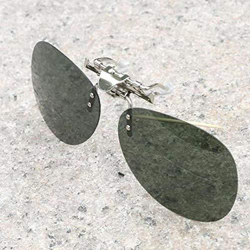 Sonnenbrille Clips Männer und Frauen Myopie Brille Sonnenbrille Clips Nachtsichtbrille Fahrer Fahren polarisierte tägliche schwarz grau (polarisierte Gläser) Myopie Brille gewidmet Clips, täglich dun