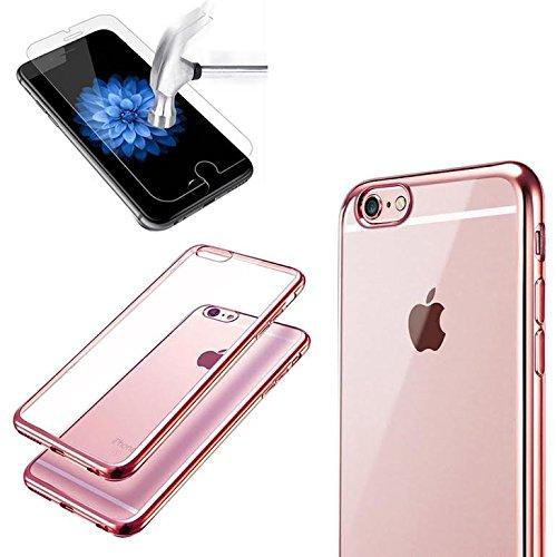 iPhone 7Plus Case TPU Gel Fall [Drop Schutz/Shock Absorption Technology] für Apple iPhone 7Plus Cover mit Apple iPhone 7Plus gehärtetem Glas Displayschutzfolie. Komplett Pack 2in1Fall & Tempered  rose gold