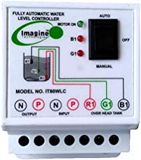 Imagine Technologies Metal Automatic Water Level Controller and Indicator with 3 Sensors (White, IT108WL)