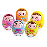 #4: Toyshine Push and Shake Wobbling Roly Poly Tumbler Doll, Bell Sounds, 1 Pc, Assorted Color