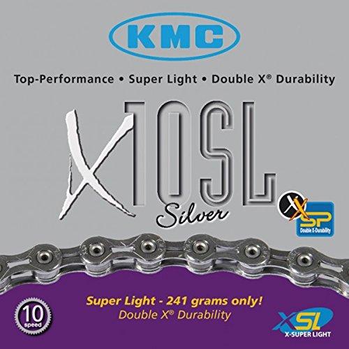 Fahrradkette KMC KMC X-10 SL silber 10-fach 30 Gang 112 Glieder
