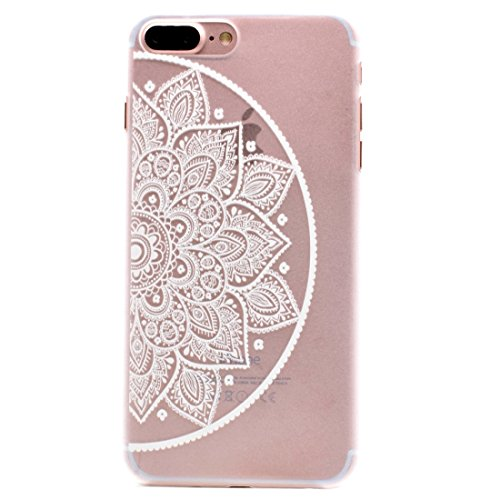 Mesh Flower Pattern Transparente PC Schutzhülle für iPhone 7 Plus by diebelleu ( SKU : Ip7p1456k ) Ip7p1456d