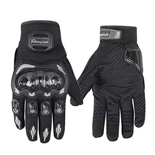 ARTOP Motorrad Handschuh Herren Damen Vollfinger Motorradhandschuhe Sommer Touchscreen Motorcross Handschuhe MännerKinder(Black,XXL) (Kinder Motorrad-handschuhe)