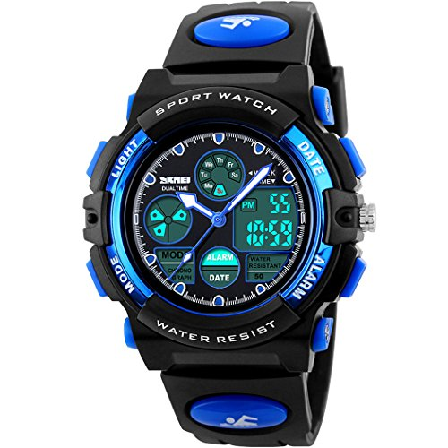E-future-SKMEI-Teenagers-Boys-50M-Waterproof-Analogue-Digital-Military-Sports-Watch-Blue