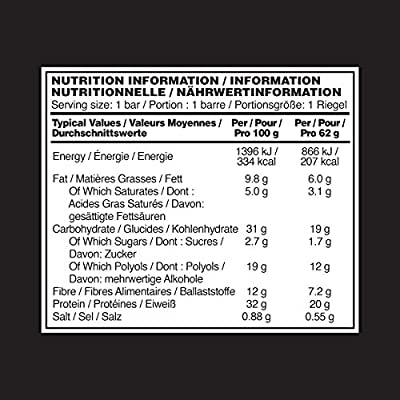 Optimum Nutrition Optimum Protein Bar by 10 X 60g Protein Bars, Whey Protein Isolate & No Added Sugar, 10 Bars from Optimum Nutrition