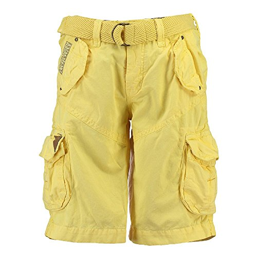 Geographical Norway Herren Cargo Shorts kurze Bermuda Hose Polish Men (Farbauswahl) LYellow
