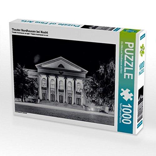 Preisvergleich Produktbild Theater Nordhausen bei Nacht 1000 Teile Puzzle quer