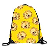 uykjuykj Little Lion Heads Sackpack Drawstring Backpack Waterproof Gymsack Daypack for Men Women Little Lion heads1 Lightweight Unique 17x14 IN