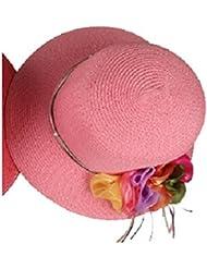 Autek chapeau d'été plafonner femelle fleurs de simulation de mode chapeau de paille coréenne en été chapeau de soleil 615