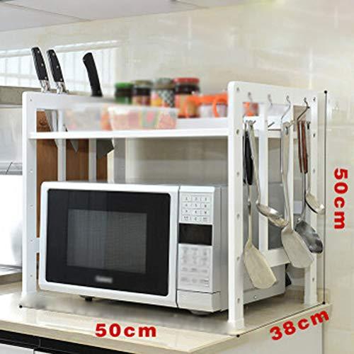 Kitchen furniture - Support de rangement pour étagère de cuisine en bambou multi-fonctions WXP (Couleur : Blanc, taille : Une seule couche)