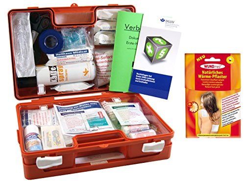 Sport-Sanitätskoffer PLUS 4 Erste-Hilfe Koffer DIN 13157 + Sporttape, Sprühpflaster, Wärme+Kälte-Behandlung
