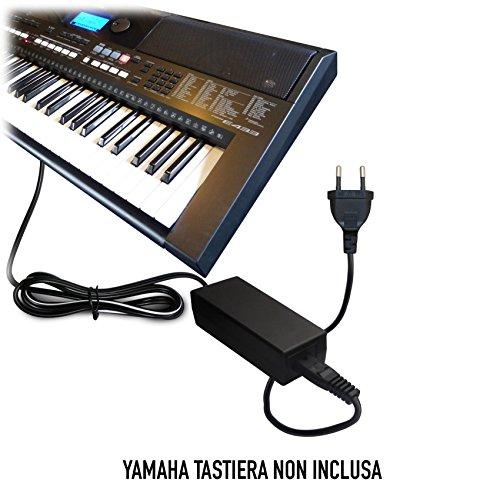 ABC Products® Sostituzione Yamaha DC 12V / 12V Volt, Alimentatore, alimentazione, Adattatore Cavo di alimentazione (PA-5D/PA-150/PA-150A/5D/SEPA6/PA-6/PA-3C/P-AC5C/EP-A3/KP-A3/PA-130/PA4/PA-40/PA-3B/PA-3C/PA-1/PA-1B) per Yamaha Synthesizers / Stage Digital Piano's / Piaggero / Drum Machine / Keyboards / Tastiera (modelli indicati di seguito)