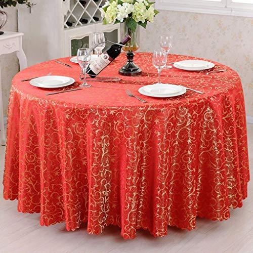 CWJ Tischdecke Küche Hotel Wohnzimmer Restaurant Couchtisch Tischdecke, Tischdecke rund Europäische Tuch Nachttisch Staubdichtes Tuch Hausbedarf Tischset,Kreis -200 cm,G -
