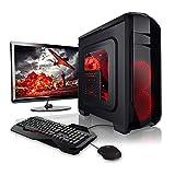Megaport Super Méga Pack - Unité Centrale pc Gamer Complet • Ecran LED 22' • Claviers de Jeu et Souris • AMD FX-6300 • GeForce GTX1050 • 8Go • 1To • Windows 10 Ordinateur de Bureau pc Gaming