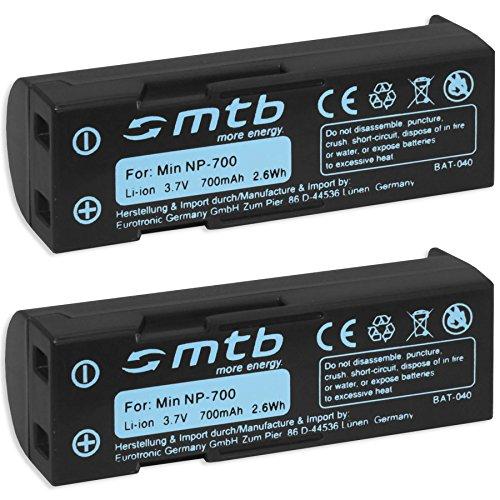 2x Batterie NP-700 per Konica-Minolta Dimage X50, Dimage usato  Spedito ovunque in Italia