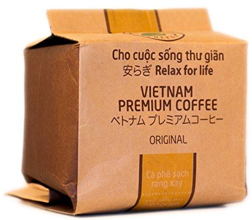 VietBeans – Hello5 Original gemahlener Röstkaffee – Organisch angebauter vietnamesischer Kaffee - Schokoladige Note - Dunkel und kräftig - - Röstung Dunkle Bio Kaffee-bohnen