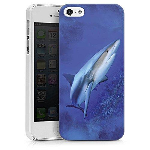 Apple iPhone X Silikon Hülle Case Schutzhülle Raubfisch Hai Weißer Hai Hard Case weiß