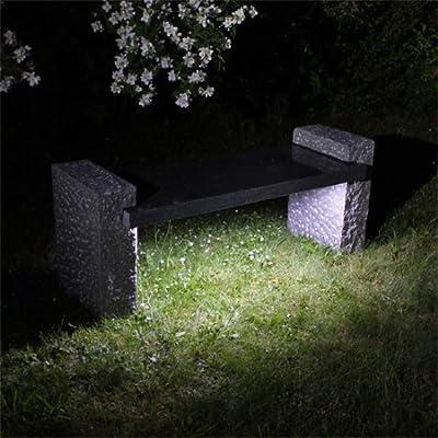 Exklusive Luxus Granit Gartenbank GB3LED mit LED Beleuchtung Granitbank Naturstein Bank