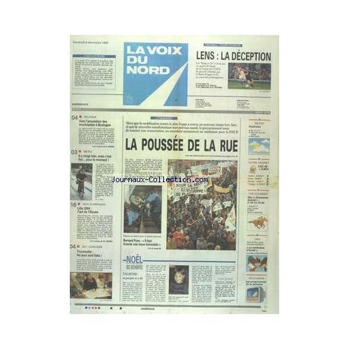 VOIX DU NORD (LA) [No 16012] du 08/12/1995 - LES CONFLITS SOCIAUX - VERS L'ANNULATION DES MUNICIPALES A BOULOGNE - LES SPORTS - JO LILLE 2004 - FOOT