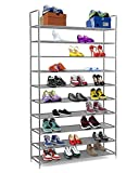Halter Meuble à chaussures 10étages en acier inoxydable Étagères empilables Capacité 50paires de chaussures 90,8x...