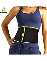Cinturón para adelgazar ajustable para la cintura, la parte inferior de la espalda, y las lumbares, unisex