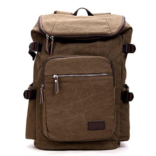 Imagen de eshow bolso de  multifuncional de tela de lona para hombres  de senderismo color marron