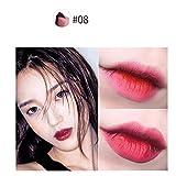 Cooljun Rouge à Lèvres Bicolore En Forme De V Brillant à Lèvres Hydratant Longue Tenue Hydrofuge Cosmétique (H)