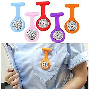 Cramberdy Minimale Uhr Wanduhr Uhren Krankenschwester Silikon Uhr mit Tunika-Schnalle mit freier Batterie Armbanduhren