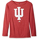 NCAA Indiana Hoosiers Womens Her Full Color Primary Logo L/s Crew Teeher Full Color Primary Logo L/s Crew Tee, Victory Red, Large