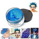 Haarfarbe Wachs, natürliche Matte Frisur für Party. Cosplay, Halloween (blau)