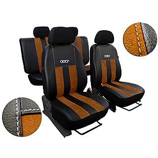 POK-TER-TUNING Maßgefertigte Sitzbezüge für AMAROK ab 2010 Design GT (GT Braun)