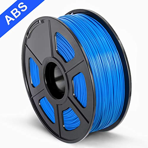 SUNLU 3D Printer Filament ABS, 1.75mm ABS 3D Printer Filament, 3D Printing Filament ABS for 3D Printer, 1kg, Blue