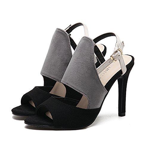 ZYUSHIZ High-Heel Frau Sandalen Hausschuhe Occidental im minimalistischen Stil 36EU