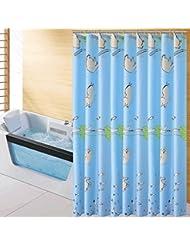 D G F Cortina de ducha de poliéster Interior y exterior de baño Cortina impermeable de niebla de alta calidad Multi-tamaño Opcional ( Tamaño : 200*180cm )