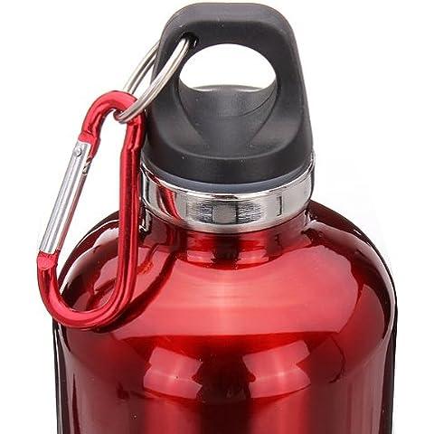 MaMaison007 Bicicletta all'aperto in acciaio inox borraccia termica bottiglia 750ml-rosso