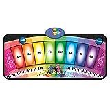 FOKOM-- Tapis Musical Jeu Musical Touch Tapis de Jeu Enfant Ramper Batterie Alimenté Piano Clavier Musique enfant –Coloré