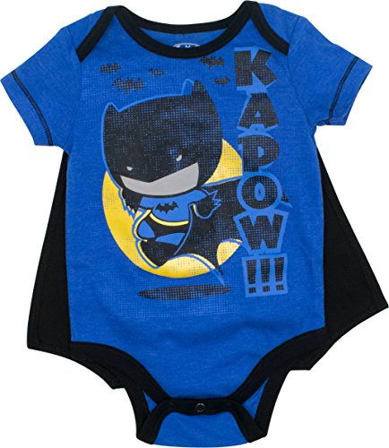 DC Comics Batman Baby Jungen Body und Cape Set, Blau 3-6 Monate