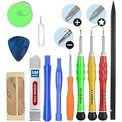 MMOBIEL Kit Complet d'outils 13 en 1 pour Ouverture et réparation de Smartphones/Tablettes (iPhone, iPad, Samsung, Nokia, Motorola, Huawei, Sony, HTC.)