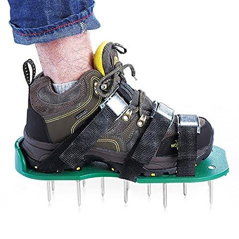 Aérateur de gazon, Chaussures, MIS à jour Version Sandales Aérateur de gazon, Heavy Duty Spike Chaussures pour herbe–Taille gratuit, meilleurs outils de jardin pour entretien de la