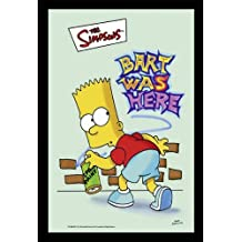Simpsons Espejo Decorativo con Impresión The Bart Was Here (22cm x ...