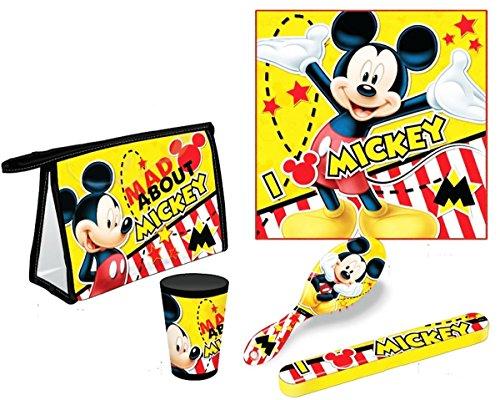 Set trousse de toilette 5 pièces enfant garçon Disney Mickey Jaune/noir