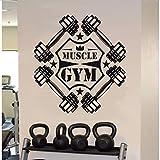 Namefeng Wall Sticker Moda Fitness Training Parete Fitness Gym Motivazione Art PVC Muscoli da Allenamento Muscoli 75X80Cm
