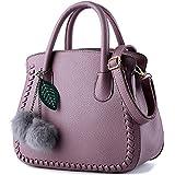 Sac a main Femme Simple Mode Sacs à main en PU Cuir Sac d'épaule Pour Filles Violet