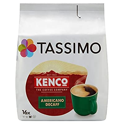 Tassimo Kenco Decaffeinated Coffee Pods 16x6.5g 104g