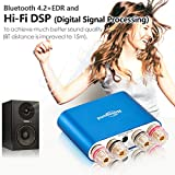 Nobsound NS-10G PRO Hi-Fi DSP 100W (50W x 2) Digital Bluetooth 4.2 Amplifier 2.0 Channel Stereo Power Audio Amp for Home Speakers Upgrade Version Mini Digitaler Verstärker (without power supply, Blue) Vergleich